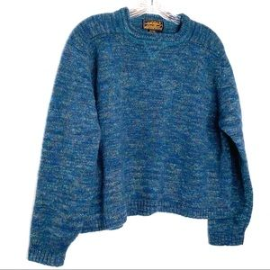 Eddie Bauer Wool Cropped Size Large Sweater